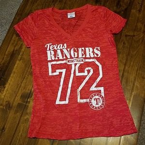 Texas Rangers Burnout T-shirt